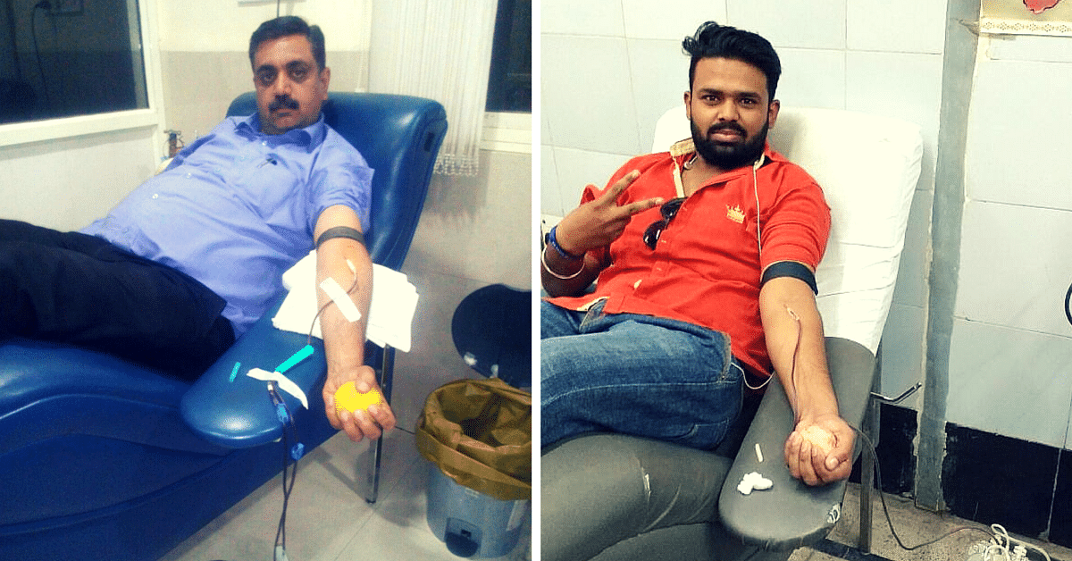 Rakt Archana members donating blood