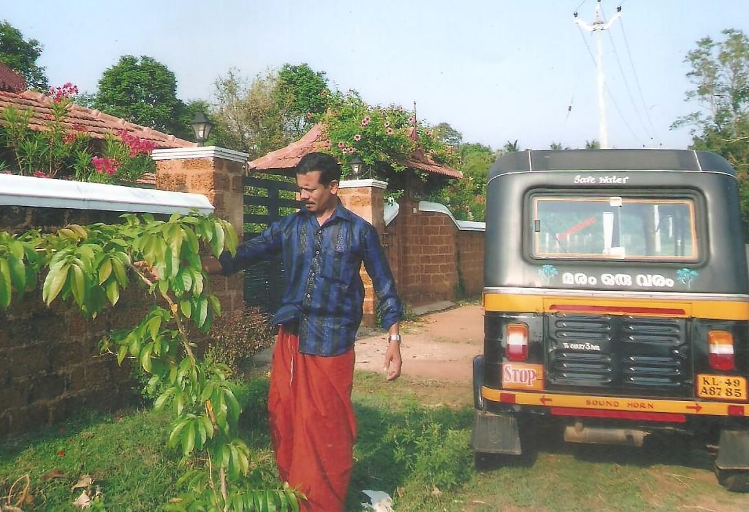 Shyam's world - his home, his auto, his trees!!