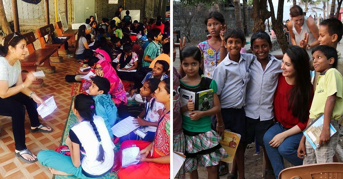 Volunteers teaching classes.