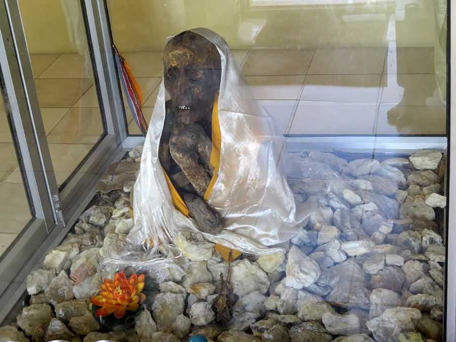 550 yr old mummy of Lama Tanjin (1)