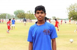 At home at the Anantapur Sports Village