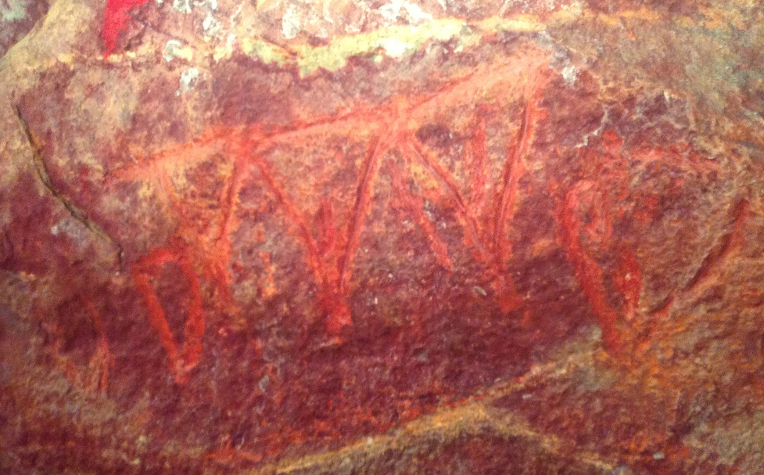 Petroglyph depicting female genitals from Odisha