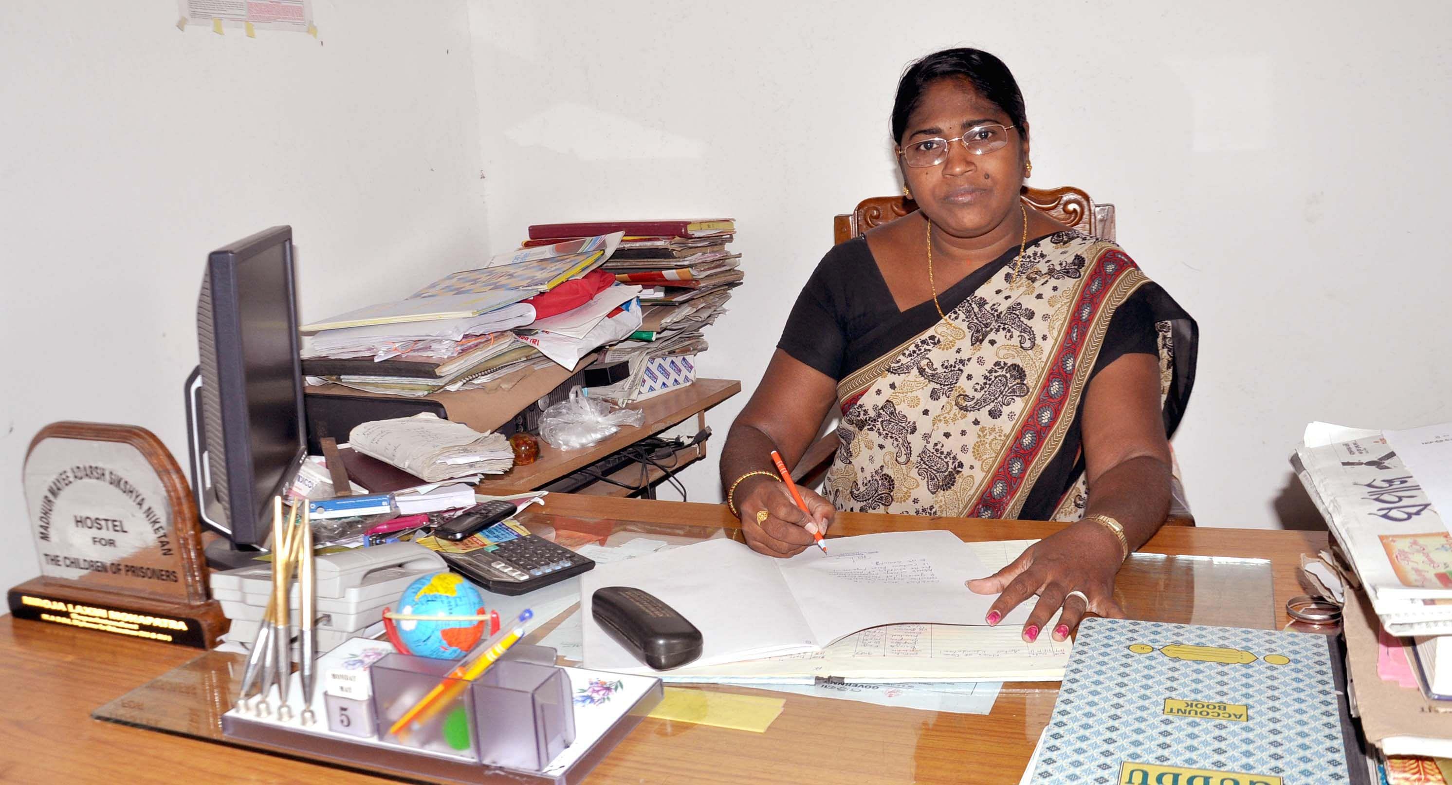 Social activist, Nirajalaxmi Mohapatra runs a home for children of convicts in Bhubaneswar. (Credit: Piyush Mohanty\WFS)