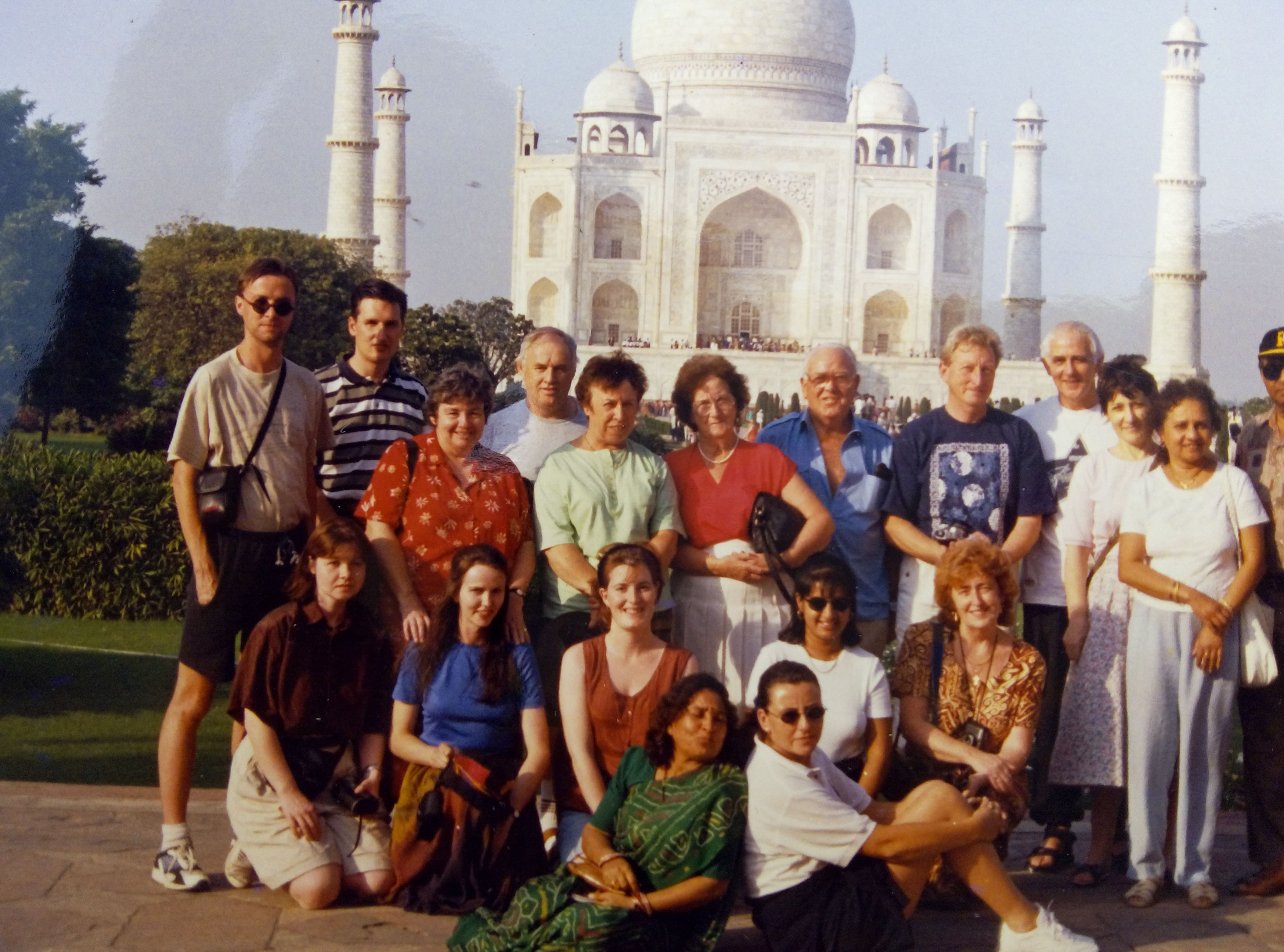 Usha Bhardwaj, one of the first Russian speaking guides in India, with a group in Agra.