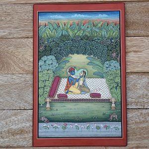 Radha_Krishna_Miniature Painting