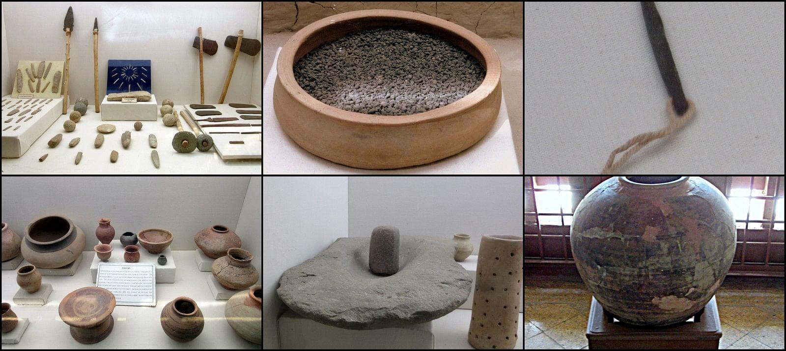 Mohenjodaro-museum-weapons-pottery