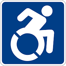 Image of international symbol of access.