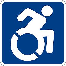 Image of international symbol of access.