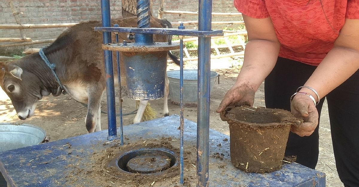 How a Farm in Dharamsala Can Help us Replace Plastic Bags with Eco Friendly Cow Dung Planters