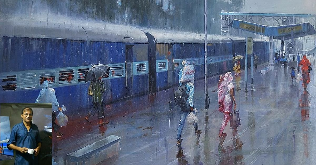 IN PHOTOS: This Ticket Examiner Paints Railway Stations in India and Makes Them Look Magical
