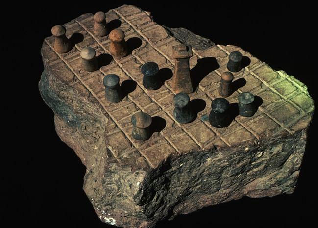 ca. 1970-1995, Harappa Museum, Pakistan --- Chess Board, Pakistan --- Image by © CORBIS