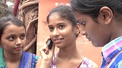 Children using the Hello, Seekho service