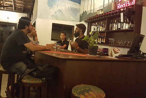 Valentine's Day serving drinks at a Goa bar