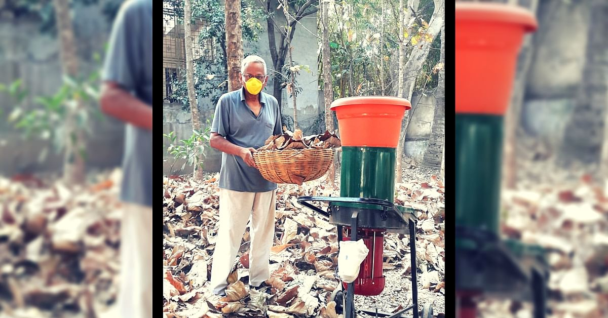 This 74-Year-Old Designed His Own Leaf Shredder to Use Organic Waste from His Garden as Compost