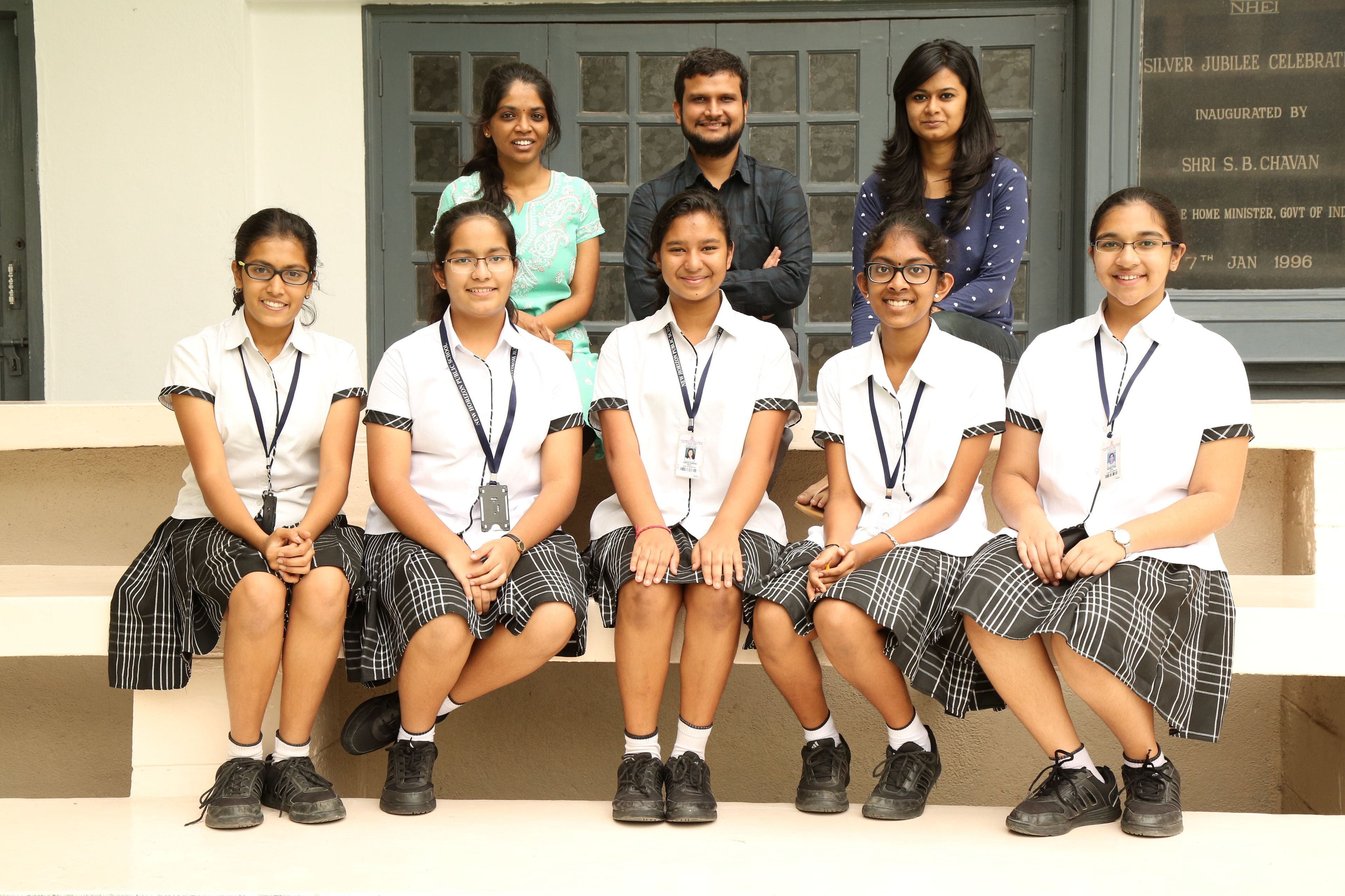 The New Horizon student team that developed ChangEd app