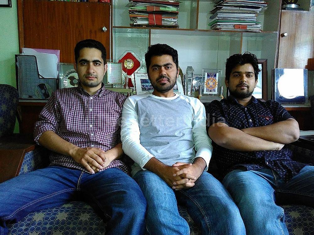 Mubeen, Imbesat, Saifi (L-R)