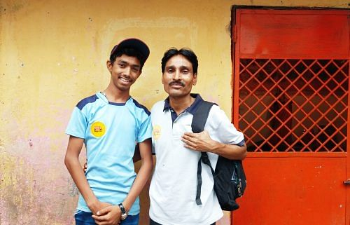 Nitin with his youth mentor Dilraj.