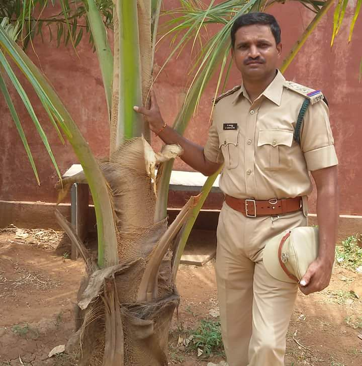 Harikrishna Kuragayala, sub-inspector from the Reserve Police of Kadappa, the green warrior