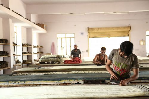 Once where only Lalchandji and his family used to print, there are now over 30 artisans who have been trained by him