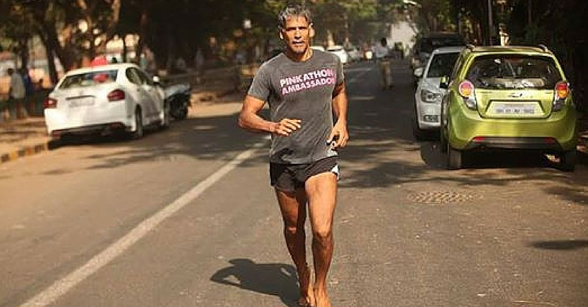 India's Ironman Milind Soman is on the Move Again – Barefoot from Ahmedabad to Mumbai