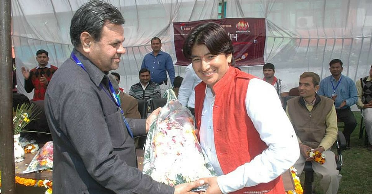 This Policewoman & Wrestling Champ is Training Rural UP Women To Follow in Her Footsteps