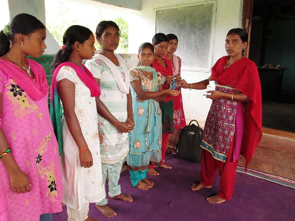 Increasingly, awareness and agency are enabling girls in rural areas to collectively resist child marriage. Girl clubs intervene and counsel parents and community elders from going against the law. (Credit: Sarada Lahangir\WFS)