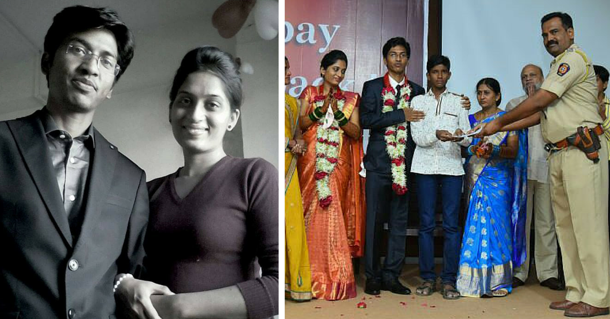 No Band-Baja, No Flowers And No Sweets. But This IRS Officer had a Wedding with a Difference.