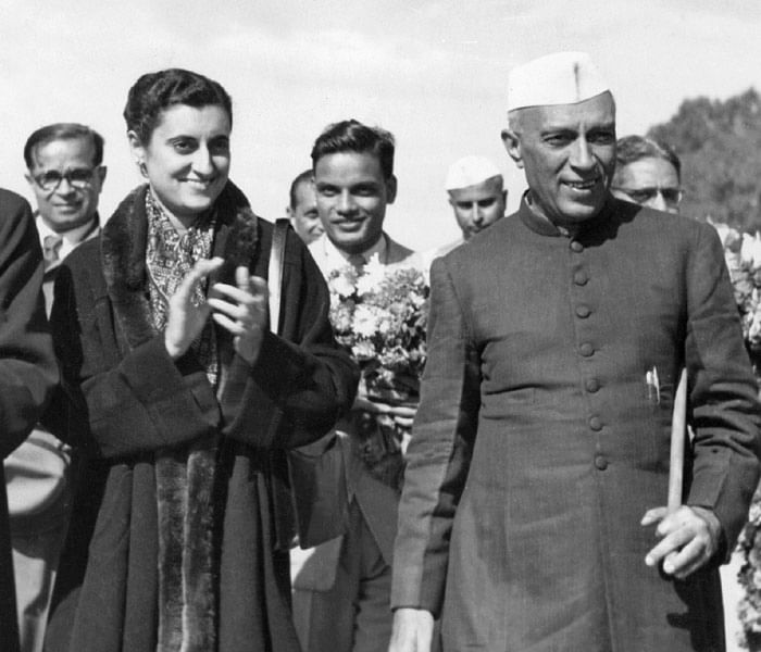 From left: Zhu Enlai (1898-1975), one of the leaders of the Chinese Communist Party, and Prime Minister of China from its inception in 1949 until his death, Indira Gandhi ((1917-84), daughter of Jawaharlal Nehru (R, 1889-1964)), Indian Premier (1947-64) upon their arrival for state visit in China 12 October 1954. Zhu Enlai greatest triumph of mediation was during the Cultural Revolution, when he worked to preserve China national unity and the survival of the government against the forces of anarchy.