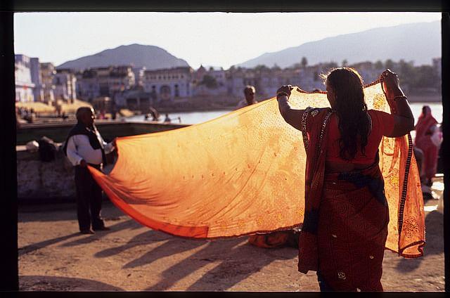 women using old sarees