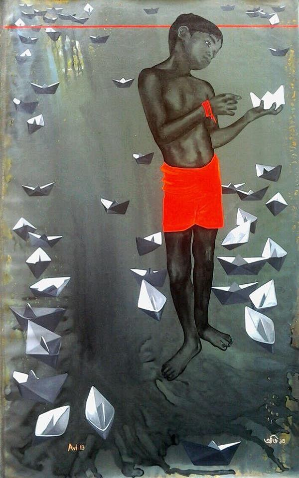 Avijit roy1. A boy holding aPaper Boat