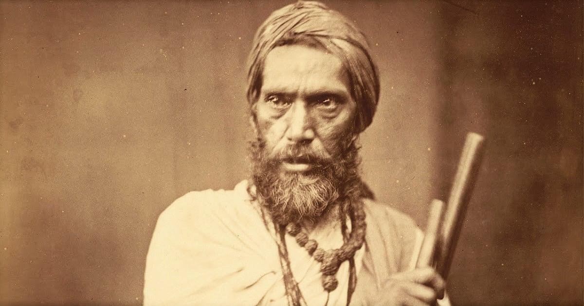 Dandi-Sanyasi,-a-Hindu-Ascetic---Eastern-Bengal-1860's