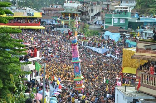 The Rots or Rong are jointly made by the community and the tower like structure carries messages for the youth of good wishes and self improvement against modern day vices.