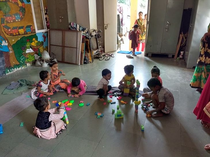 One of the Aanganwadis in Kothrud slums that teach underprivileged children under the age of 6.