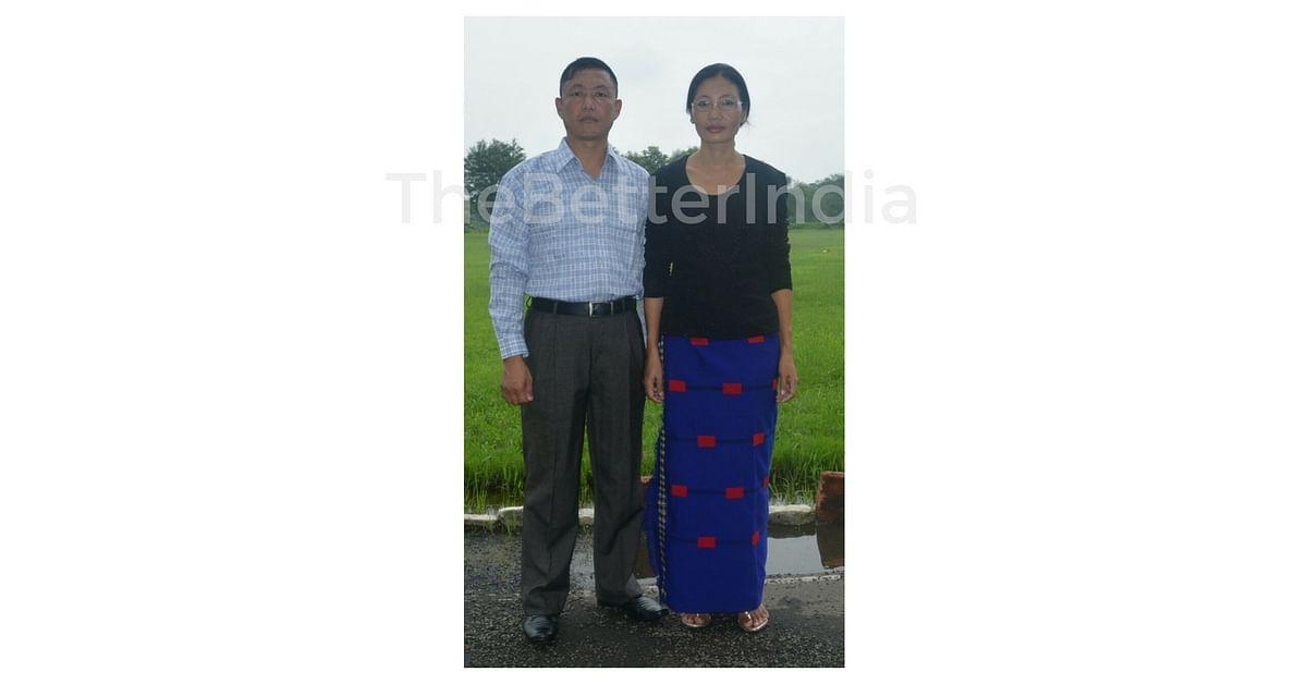 Subedar Imliakum Ao and his wife