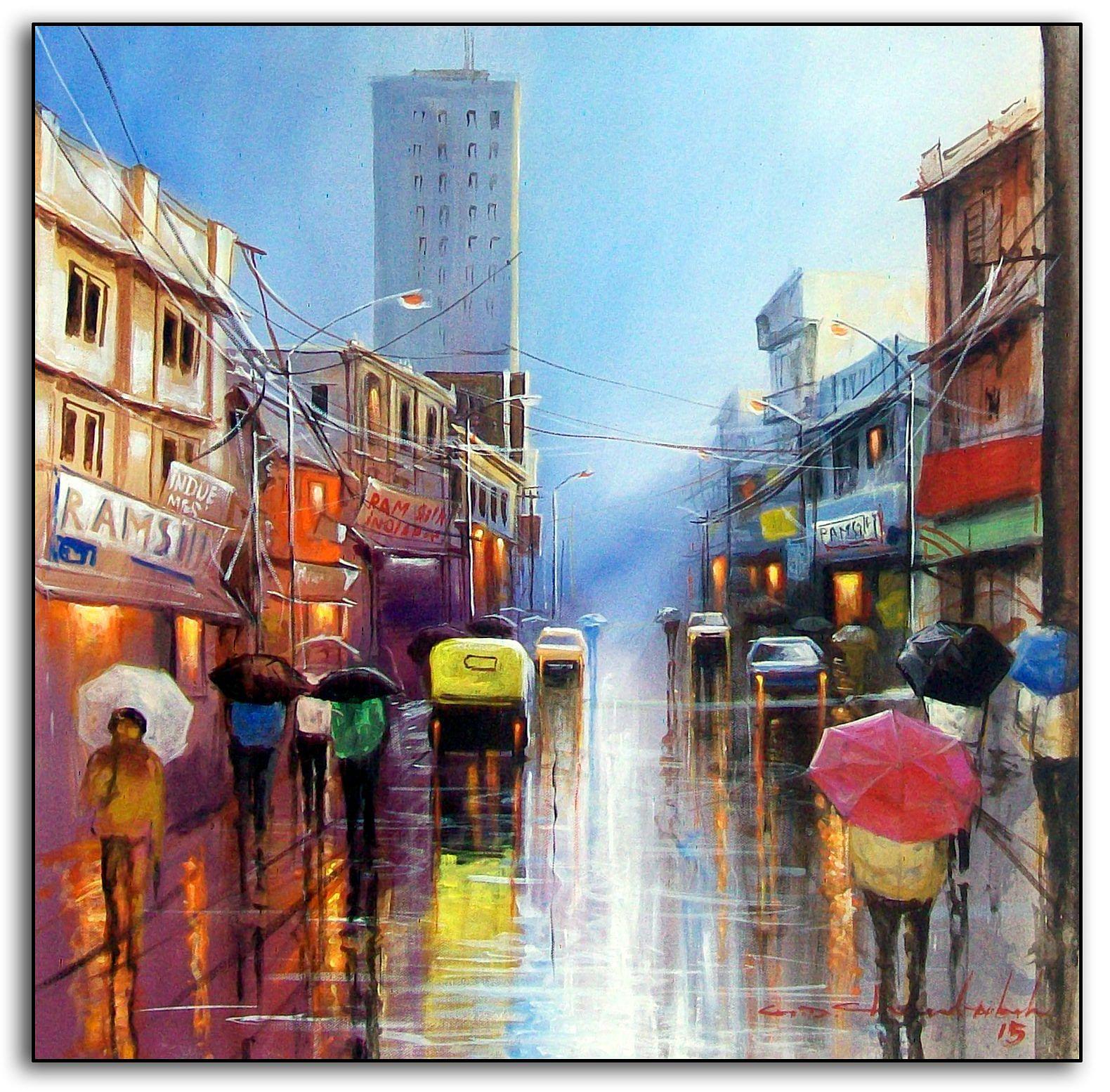 Indian Streets during monsoon. Chandrababu4