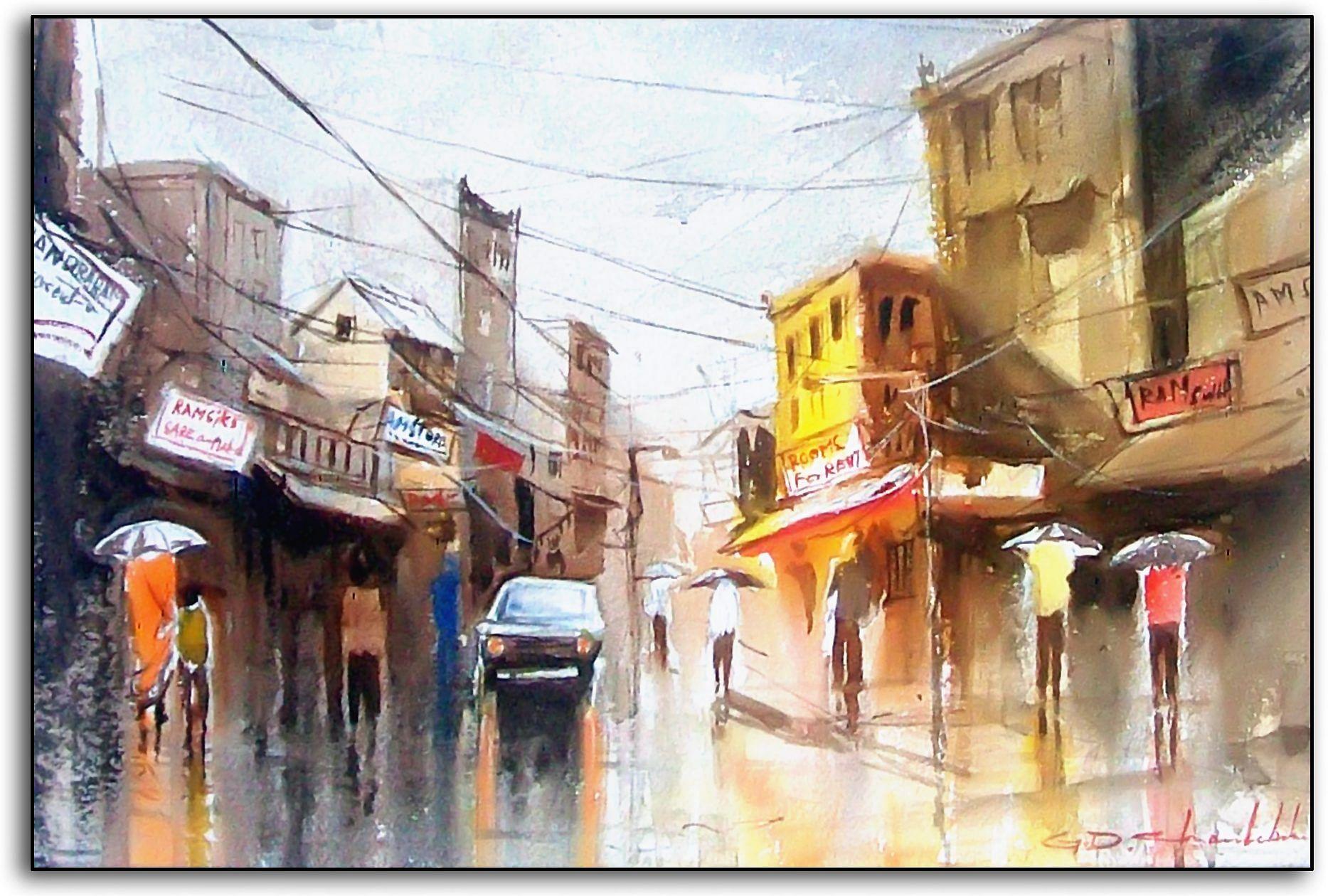 Indian Streets during monsoon. Chandrababu5 (1)