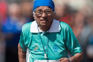 Man Kaur, 100 year old senior games sprinter