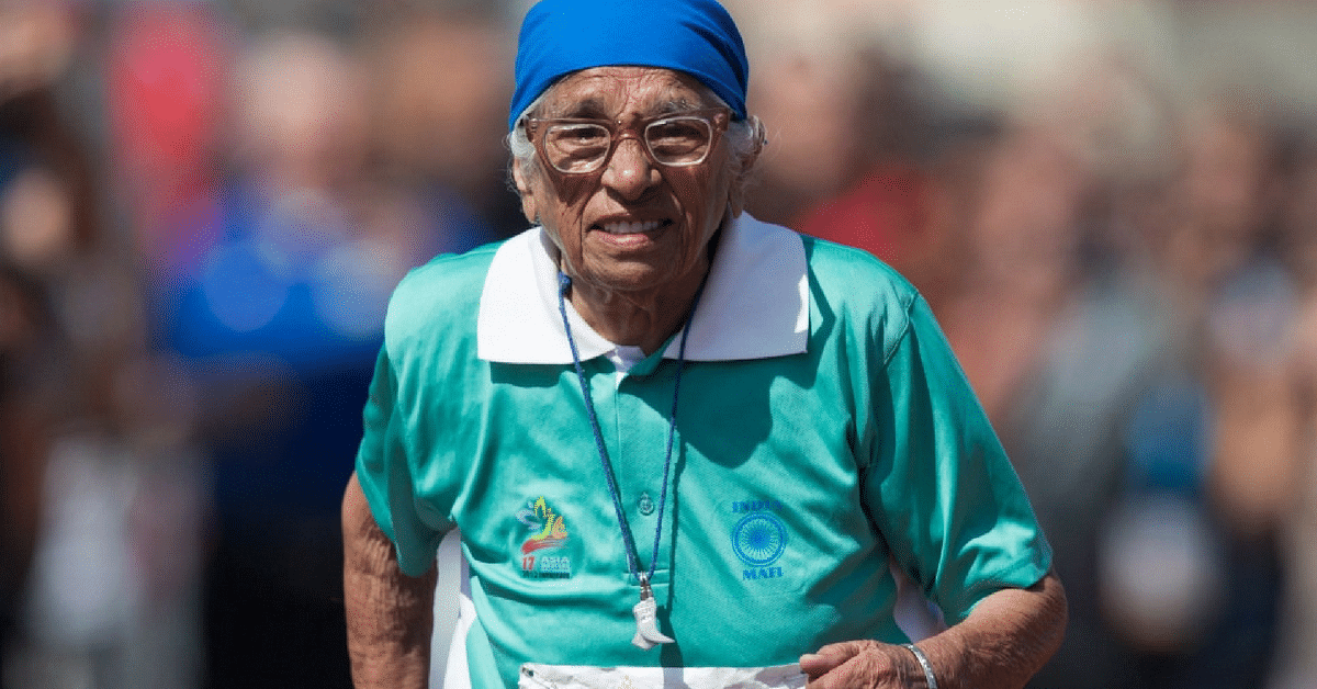 Man Kaur, 100 year old senior games sprinter