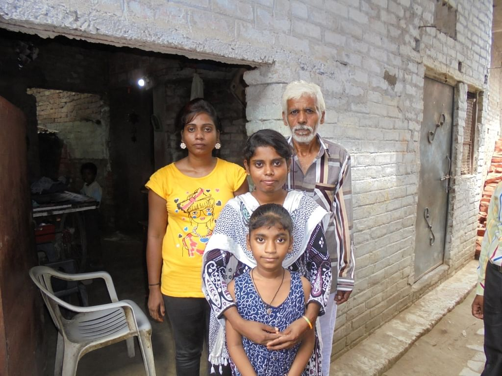 Palak with her family.