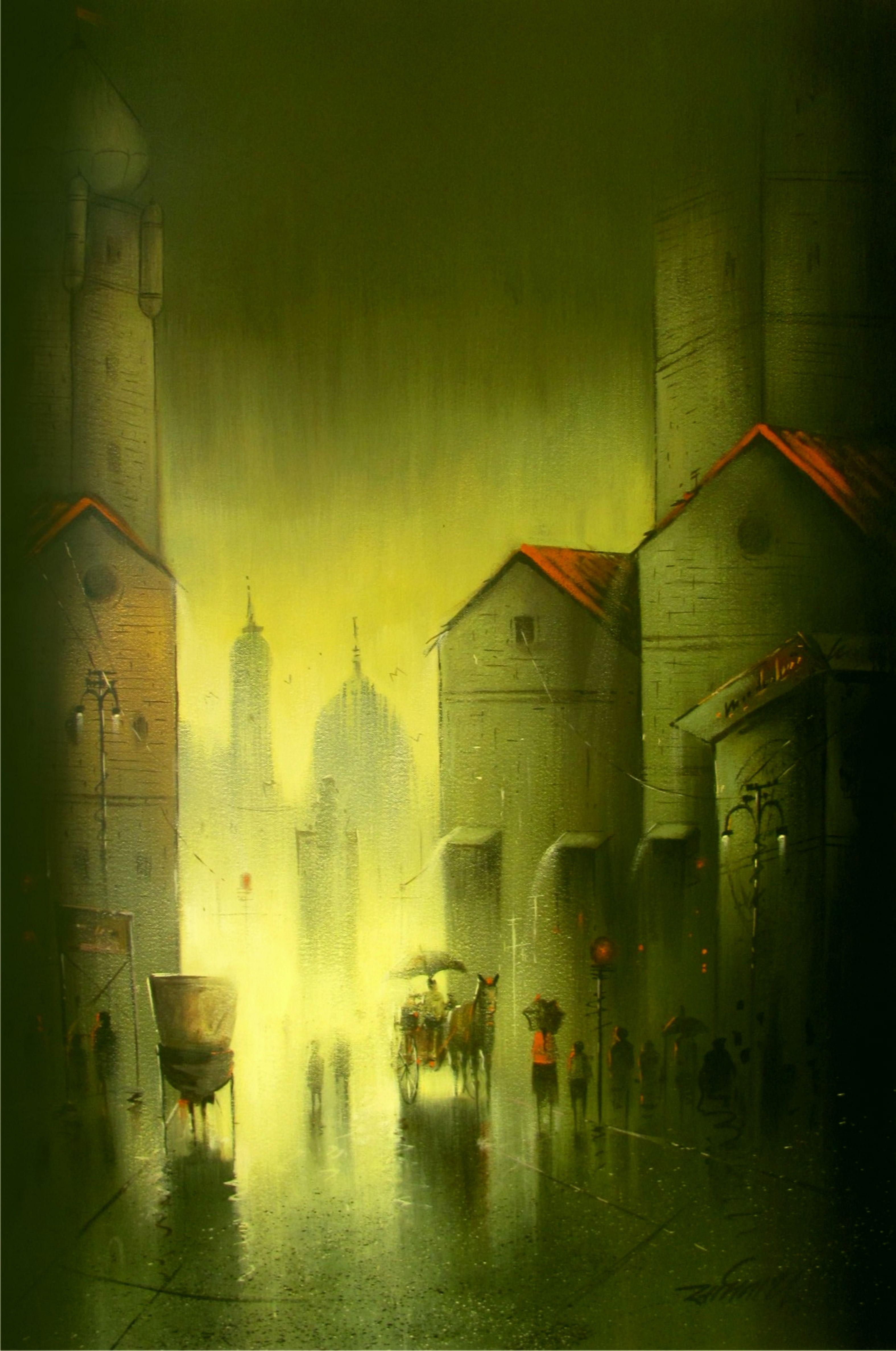 Somnath Bothe, Rain Painting2