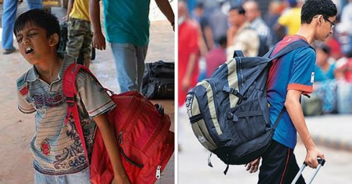 Two 12-Year-Olds Burdened by Heavy Schoolbags Hold Press Conference to Highlight Their Woes