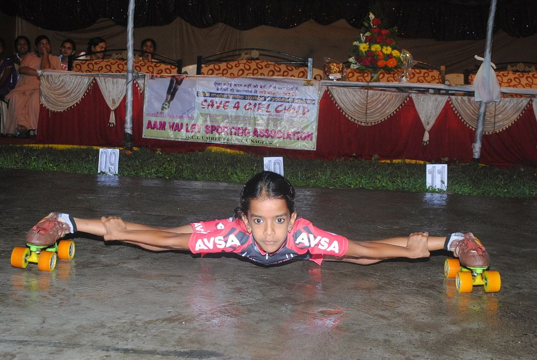 Shristi has won several roller skating medals.