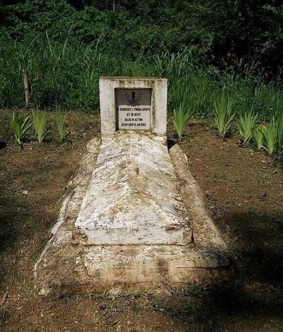E T Joseph's grave - in 2016