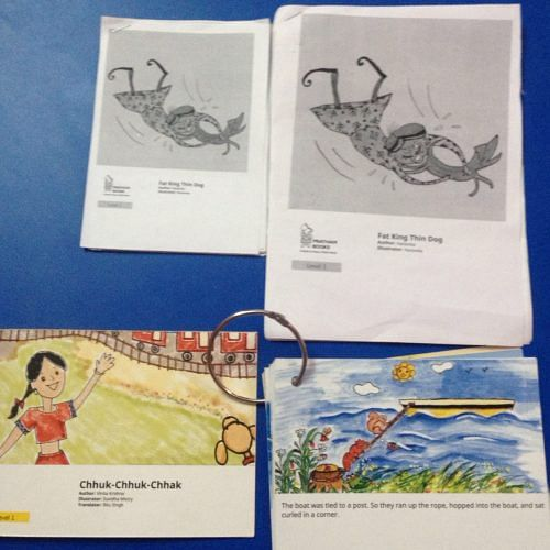 Stories printed and shared with children