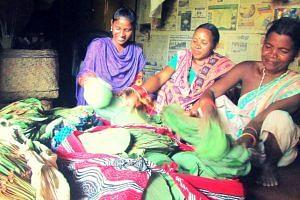Tribal women leaves