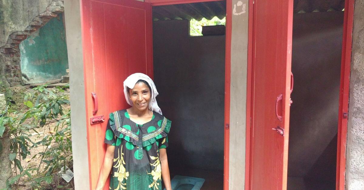 Completed toilet, Panayam GP, Kollam