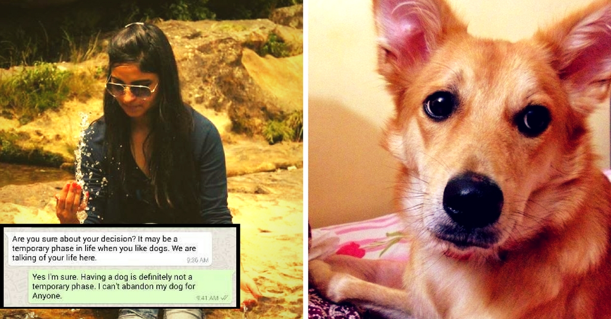 When a Girl Rejected a Marriage Proposal Because the Guy Said He Could Not Live with Her Dog
