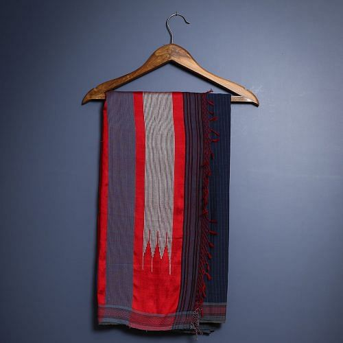 A handwoven Ilkal saree from our collection