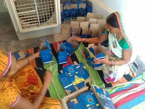 The tribal women have also learnt to market and distribute their locally manufactured solar lamps.