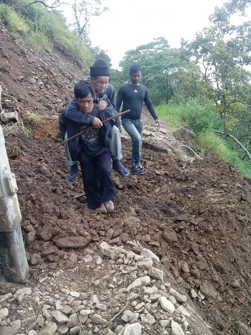 With roads wiped out completely after the floods, people's mobility was severely affected.